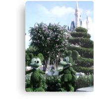Mickey & Minnie Mouse in Disneyland Metal Print