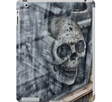 Skull looks at you through the window iPad Case/Skin