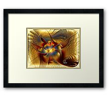 GOLDEN DANCING DRAGON Framed Print