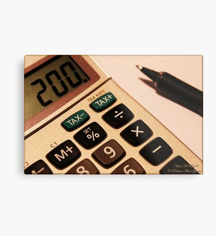 Photography - Calculator With Pen - Color Metal Print