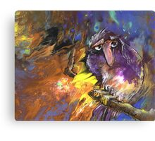 Sad Bird Canvas Print