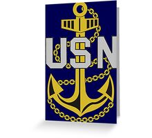 United States Navy Anchor Greeting Card
