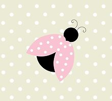 Ladybug (Ladybird, Lady Beetle) with Dots - Pink by sitnica