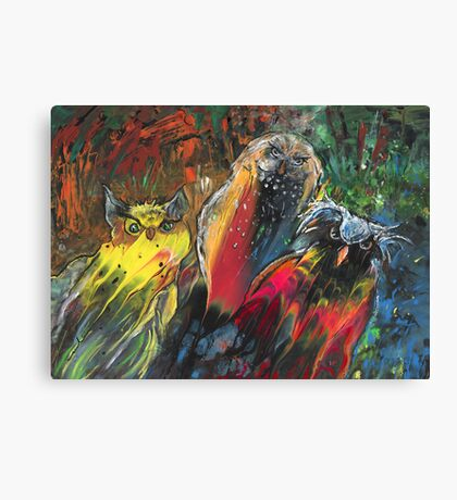 Owls in Cahoot Canvas Print