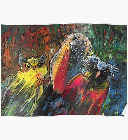Owls in Cahoot Poster