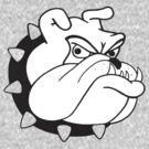 English Bulldog Cartoon by LPdesigns