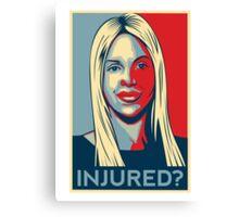 Joumana Kayrouz - Injured? Canvas Print