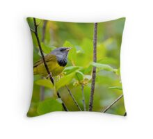 Mourning Warbler Throw Pillow