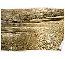 Golden Sand Sunset Poster
