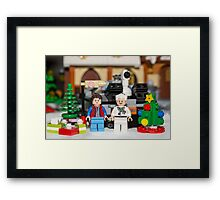 Doc and Marty Xmas Framed Print