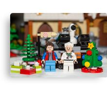 Doc and Marty Xmas Canvas Print