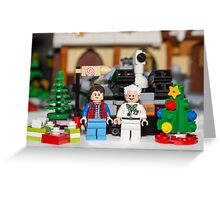 Doc and Marty Xmas Greeting Card