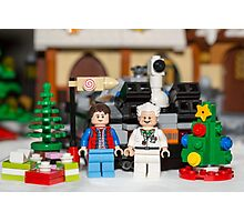 Doc and Marty Xmas Photographic Print