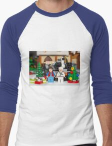 Doc and Marty Xmas Men's Baseball ¾ T-Shirt