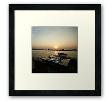 Romantic Sunset Dinner For Two Framed Print