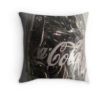 Coca cola bottle Throw Pillow