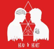 Kirk/Spock - Head/Heart  //on dark colours// Baby Tee