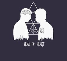 Kirk/Spock - Head/Heart  //on dark colours// Womens Fitted T-Shirt