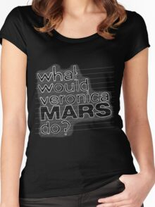 What Would Veronica Mars Do ? Women's Fitted Scoop T-Shirt