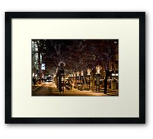 16th Street Mall in Denver, Colorado at Christmas time. Framed Print