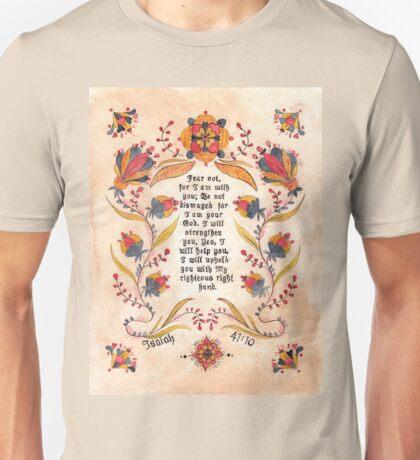 Fraktur: Bible Verse- Isaiah 41:10 Unisex T-Shirt