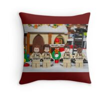 Ghostbuster at the North Pole Throw Pillow