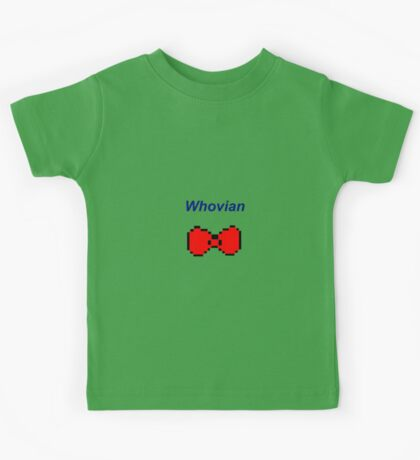 """""""Whovian"""" Doctor Who Bow Tie Kids Tee"""