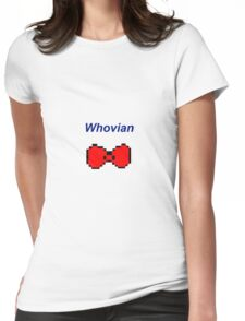 """Whovian"" Doctor Who Bow Tie Womens Fitted T-Shirt"