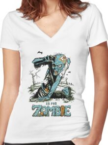 Z is for Zombie Women's Fitted V-Neck T-Shirt