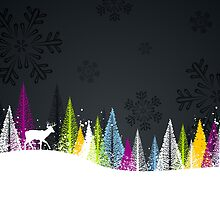 Contemporary winter holiday design by emberstudio