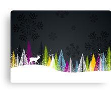 Contemporary winter holiday design Canvas Print