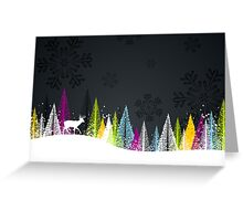 Contemporary winter holiday design Greeting Card