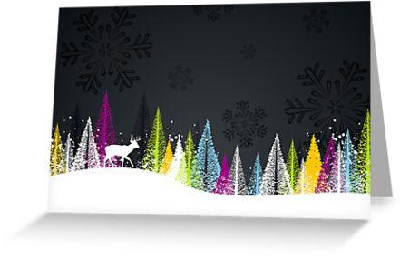 Contemporary winter holiday design by emberstudio