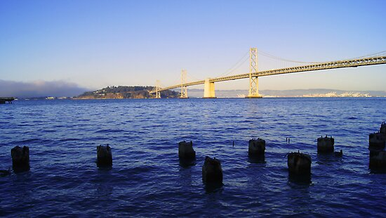 Bay Bridge in Late Afternoon by dotstarstudios