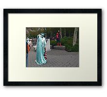 Two Ladies & One Spidey Framed Print
