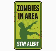 Zombie Warning Sign by emberstudio