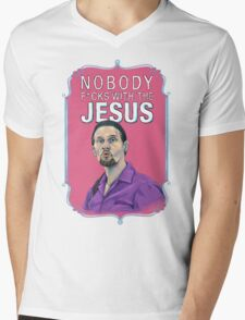 BIG LEBOWSKI-Jesus Quintana- Nobody F*cks with the Jesus Mens V-Neck T-Shirt