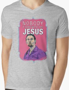BIG LEBOWSKI-Jesus Quintana- Nobody F*cks with the Jesus Mens V-Neck T-Shirt