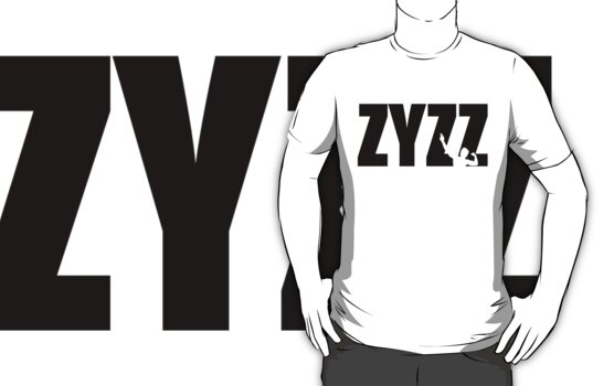 Zyzz Text Black by ZyzzShirts