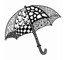 Umbrella Doodle Design by luffnstuff