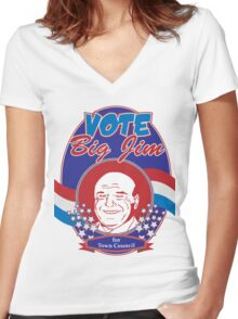 Vote Big Jim! Women's Fitted V-Neck T-Shirt