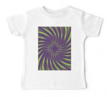 Spiral vortex violet and green Baby Tee