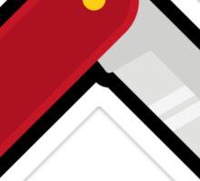 Swiss knife graphic Sticker