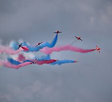 Detonator ! - The Red Arrows - Dunsfold 2013 by Colin  Williams Photography