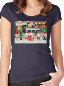 Santa and the Ghostbusters Women's Fitted Scoop T-Shirt