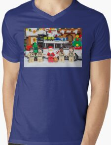 Santa and the Ghostbusters Mens V-Neck T-Shirt