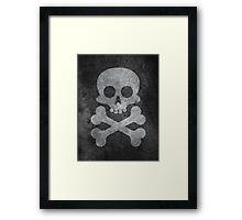 Concrete skull painting Framed Print