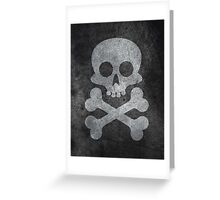 Concrete skull painting Greeting Card