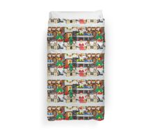 Santa and the Ghostbusters Duvet Cover