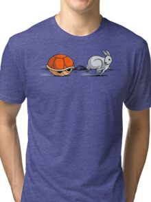 The hare and the shell Tri-blend T-Shirt